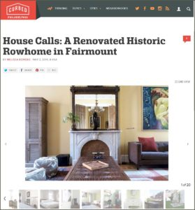 Curbed Philadelphia Article | down2earth Interior Design | May 2, 2016