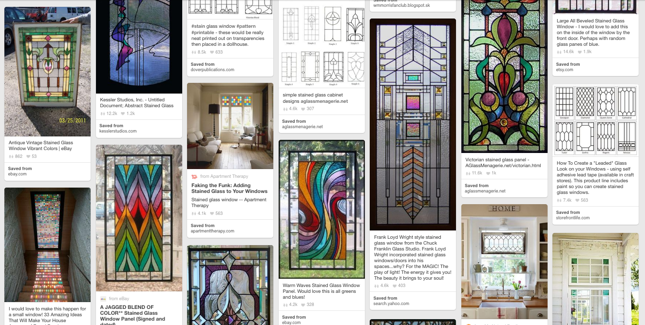 Designer\'s Own Home: Stained Glass Window | down2earth Interior Design