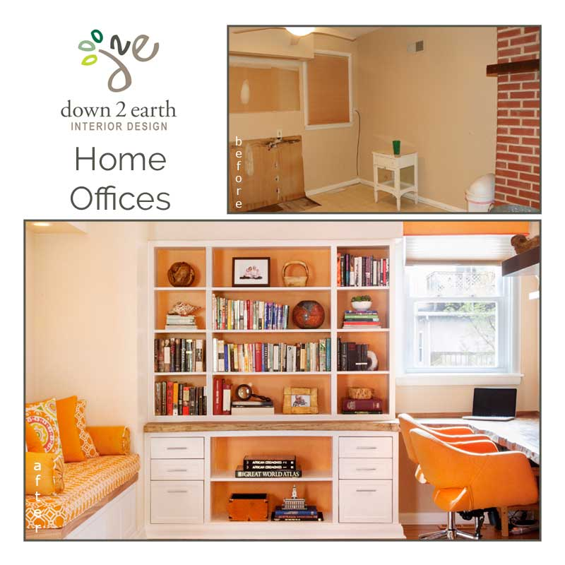 Home Offices Before And After Down2earth Interior Design