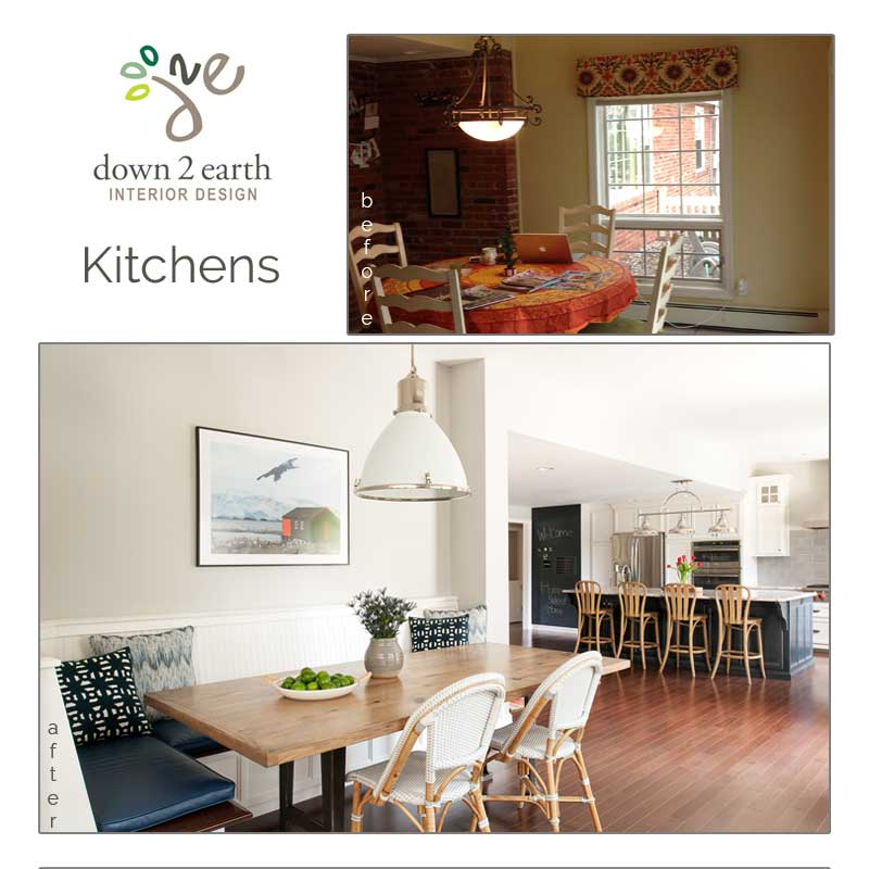 Before And After Of This Beautiful Open Concept Kitchen: Down2earth Interior Design