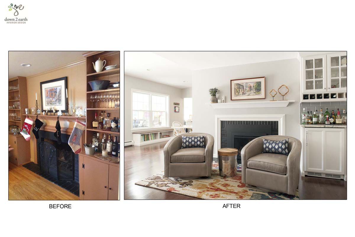 Before & After, Living Room | Wayne House