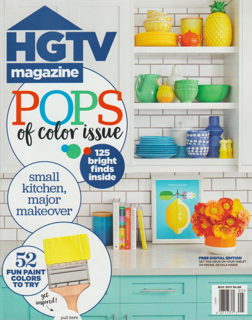 HGTV Cover May featuring down2earth interior design