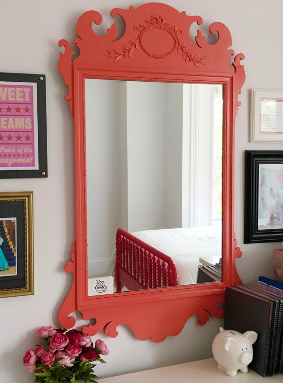 coral mirror photo finished | down2earth interior design