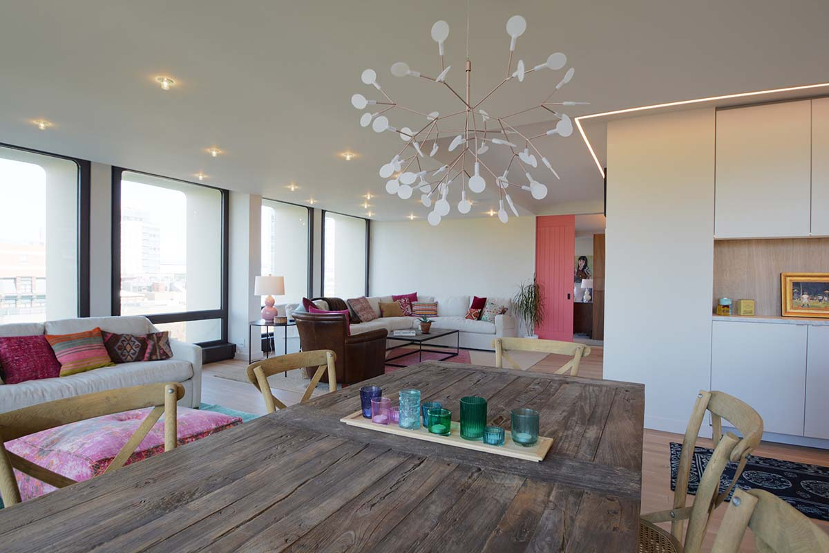 Joseph Project - Living Room 2 | Society Hill Tower | down2earth Interior Design
