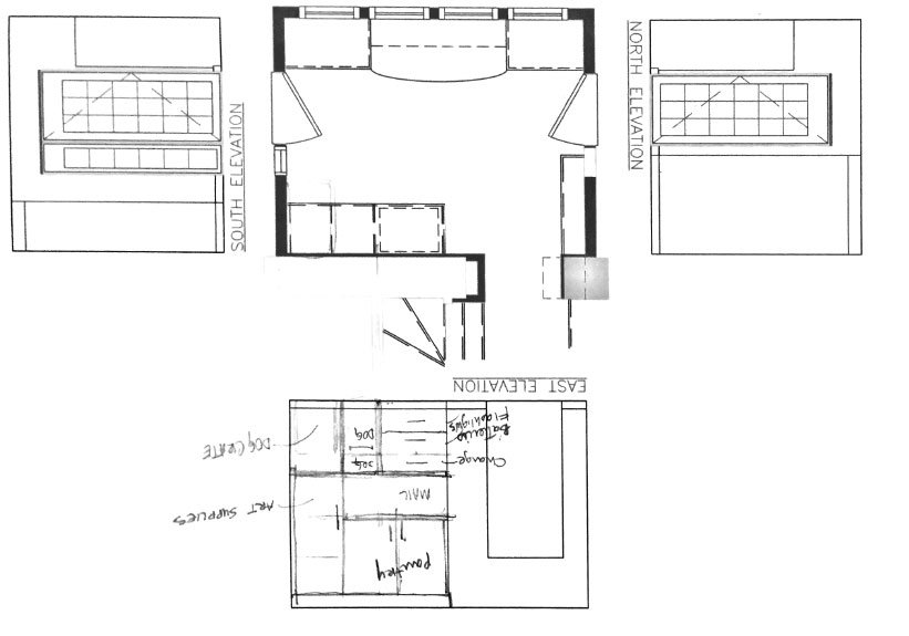 Down2Earth Interior Design | Mudroom Organization and Elevation Drawing