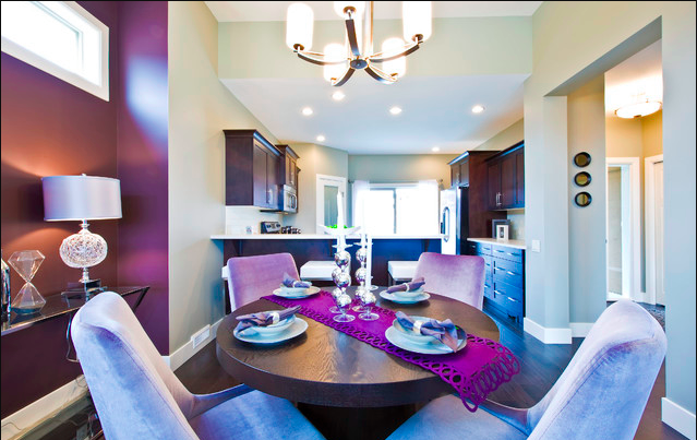 Pantone Color of the Year 2018 Ultra Violet Dining Room