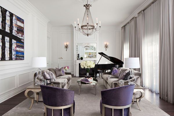 Ultra violet Formal LivingRoom