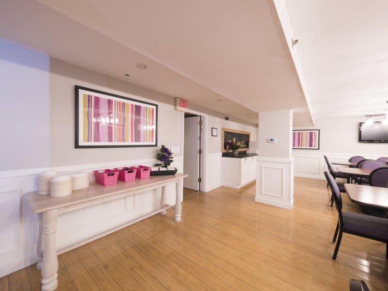 Sorority Study Interior Design Custom Serving Table