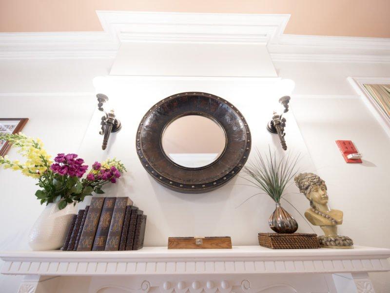 Sorority Study Interior Design Mantle Design