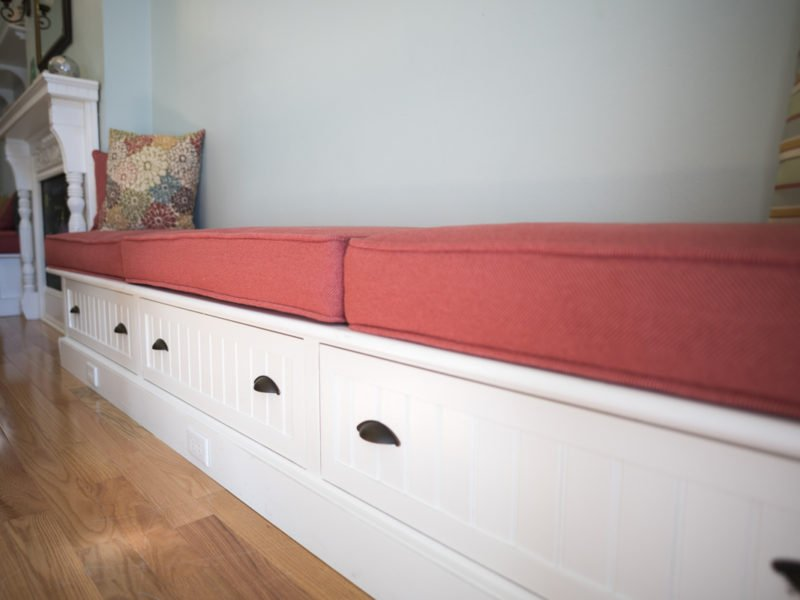 Sorority Study Interior Design Built in bench