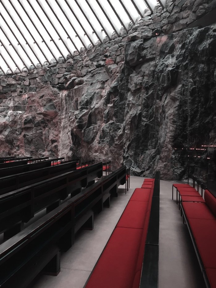 Interior Design Inspiration | Church of the Rock Finland