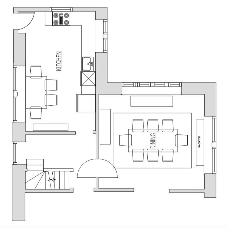 Space plan before
