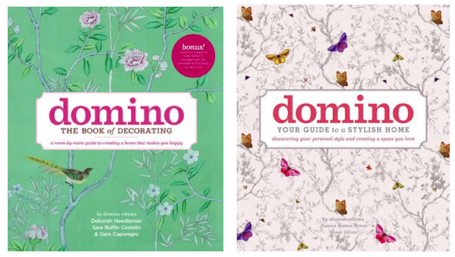 Domino book covers, the book of decorating and the guid to your stylish home