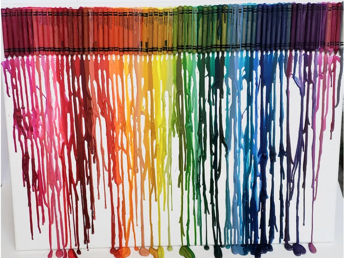 Crayola Crayon Drip Art, Interior Design Inspiration
