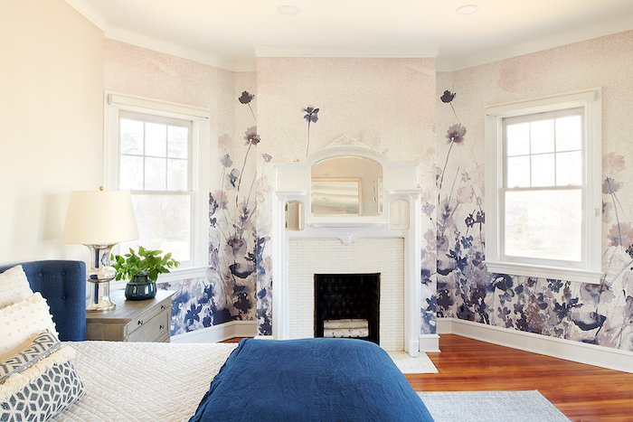 Master bedroom wallpaper mural