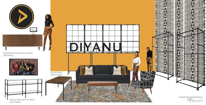 Diyanu Showroom Commercial Interior Design Concept from Down2earth Interior Design