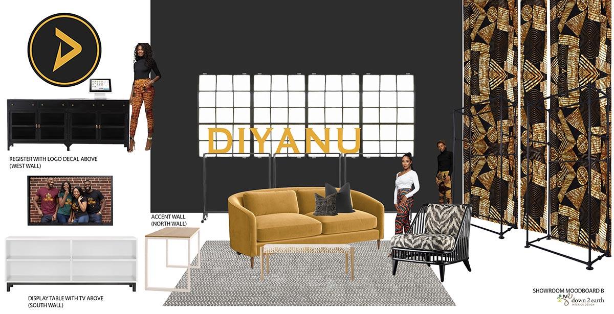 D'Iyanu - Showroom Moodboard