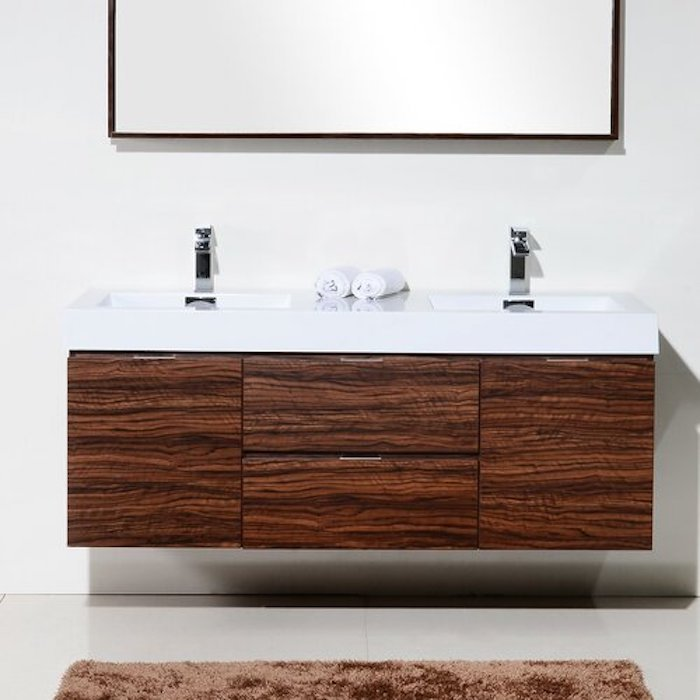 wayfair wood floating vanity double sink