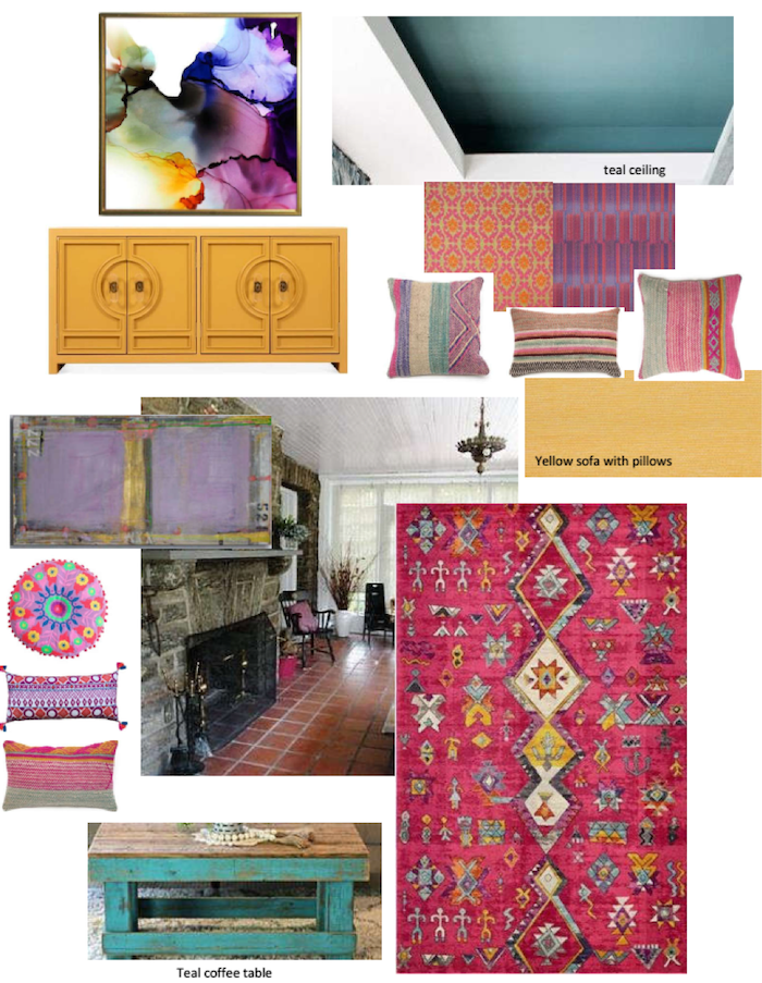 Moodboard 1 for sunroom makeover