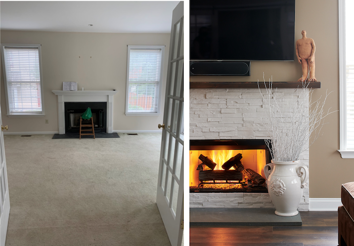 Fireplace before and after | After Photo: Rebecca McAlpin